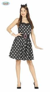 1e5acec45dbf Černé šaty s puntíky - 50-tá léta velikost M empty